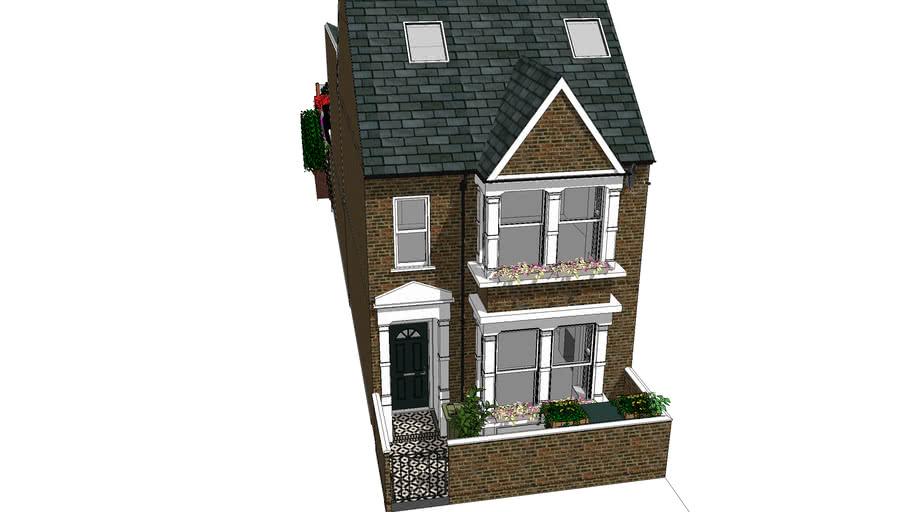 Victorian London terrace house