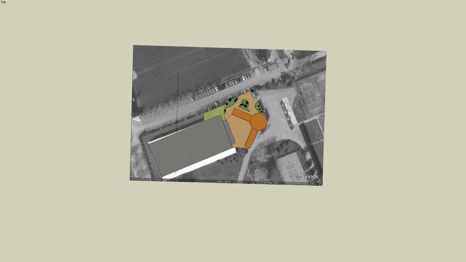 Aménagement proposé par Eline Levorato pour l'espace extérieur de l'ATGT