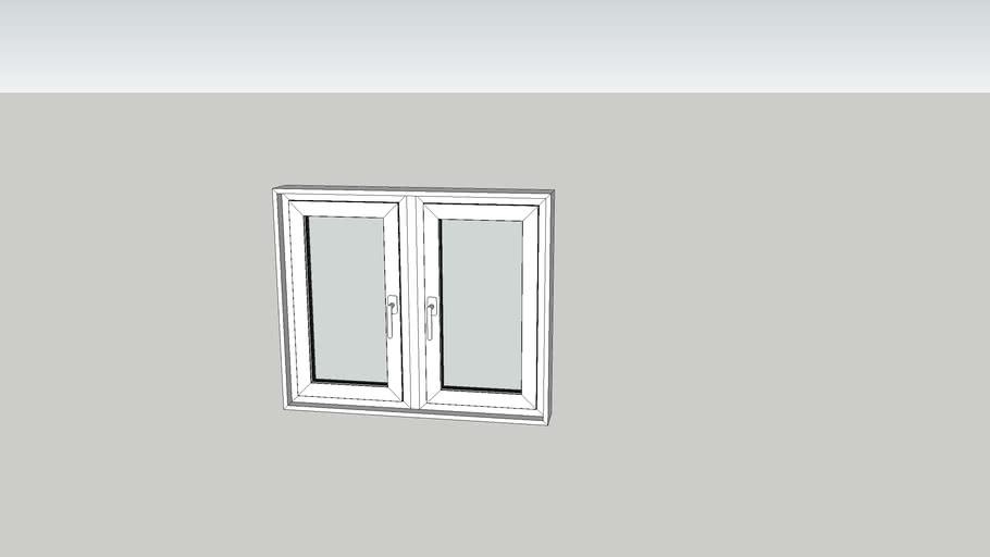 Janela PVC 2 Folhas 120x100x15