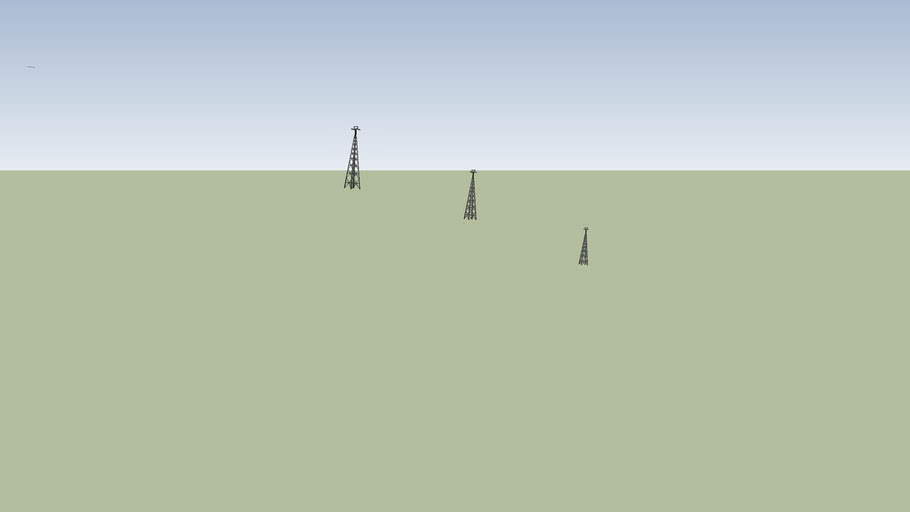 torres 7, 8 y 9 del teleferico de santiago de chile