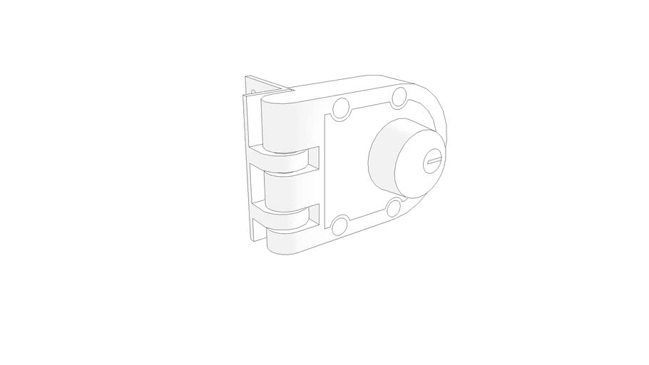 Low Poly Double Cylinder Deadbolt Lock