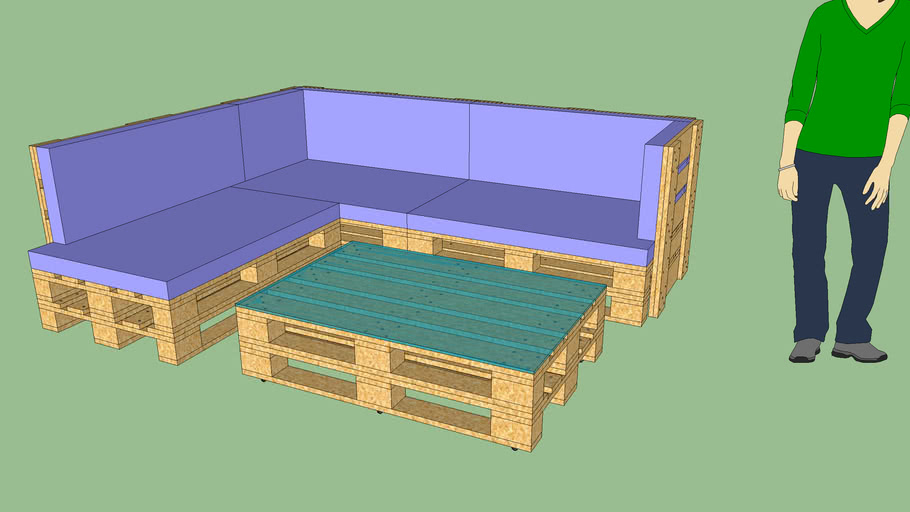 Pallet Garden Furniture Divanetto