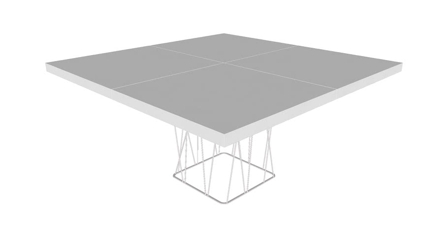 Dining Table In Glossy White By Modloft