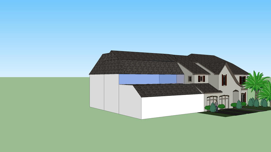 old house with modern extension