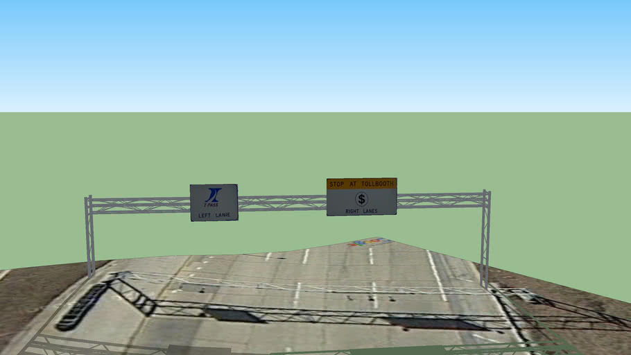 Irving Park Toll Plaza- IPass Left Lane/ Stop at Toll Booth Right Lanes