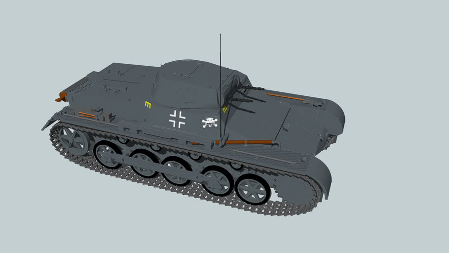 PzKpfw IB light tank,3rd Panzer Division, Germany 1940-revised