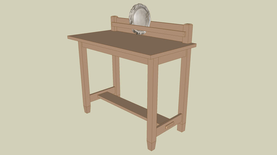 Mission An Oak Serving Table
