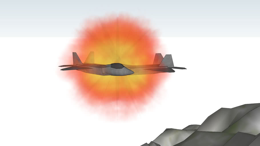 The big plane crash(F-22 plane crash)