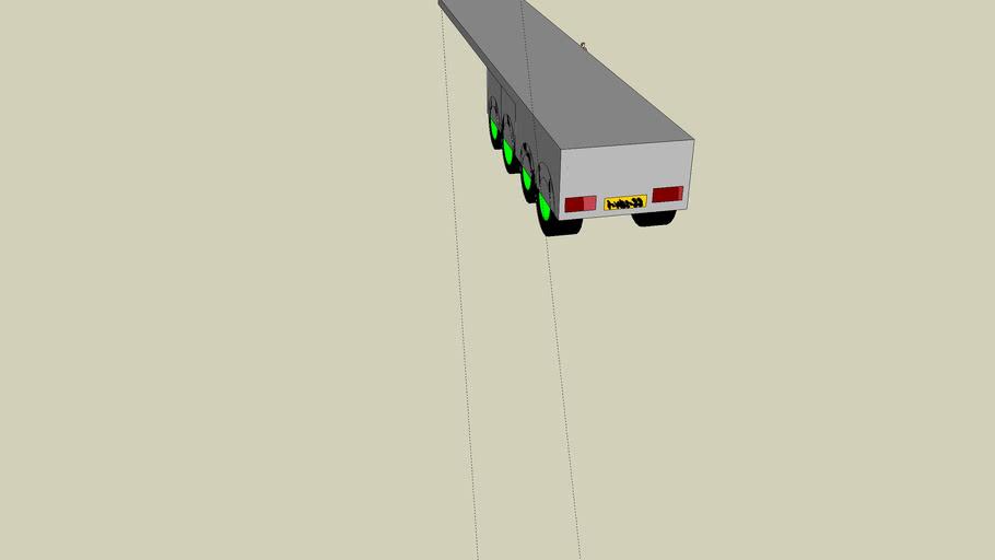 trailer for a vrijbloed truck