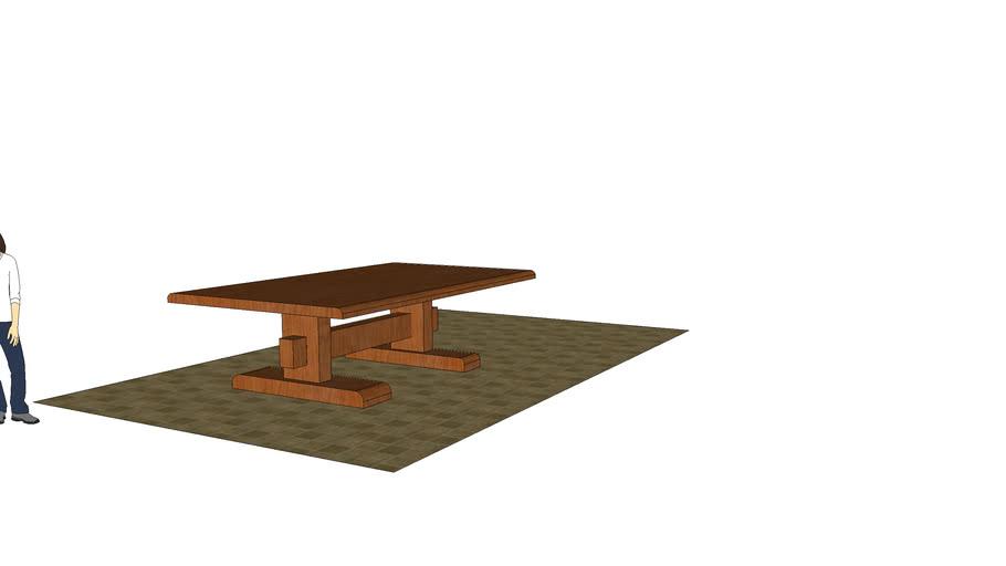 mesa 3d madera