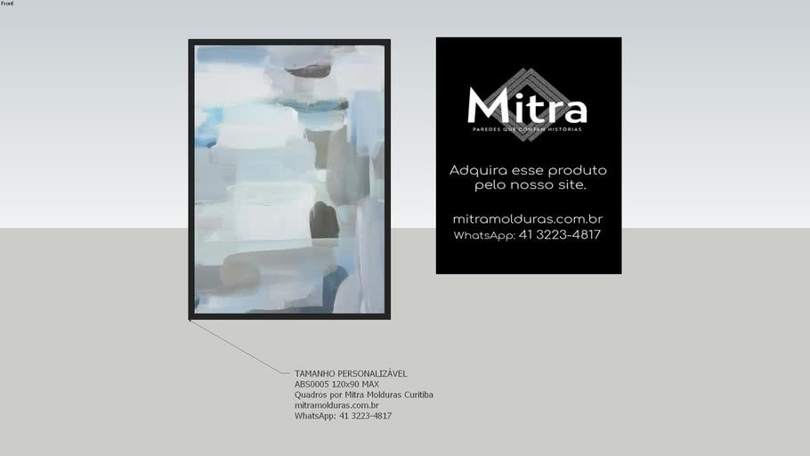 ABS0005 120x90  l Quadro Abstrato l Mitra Quadros Personalizados