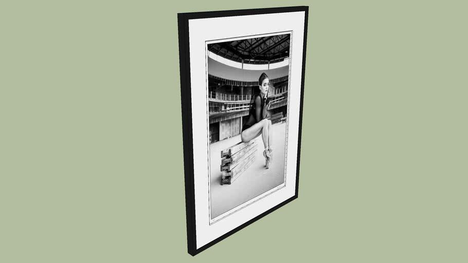 "BRODZIAK ""Ballerina #08"" 73x99 cm - Black&White, Photography, Image, Picture"