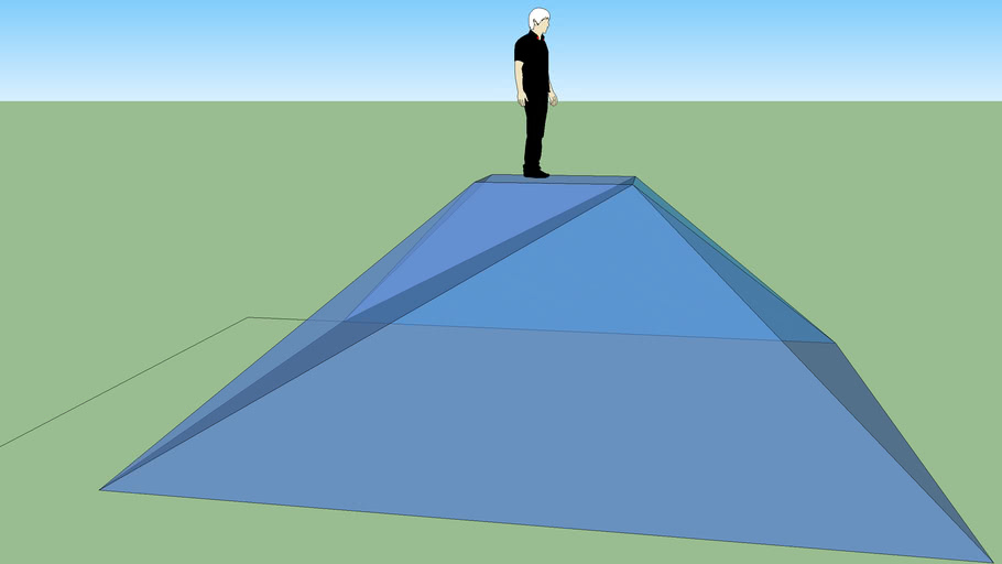 Truncated Pyramid with a vampire on top.