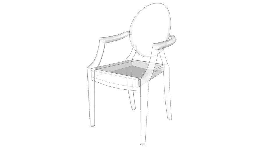 Cadeira Acrílico Vray Ready