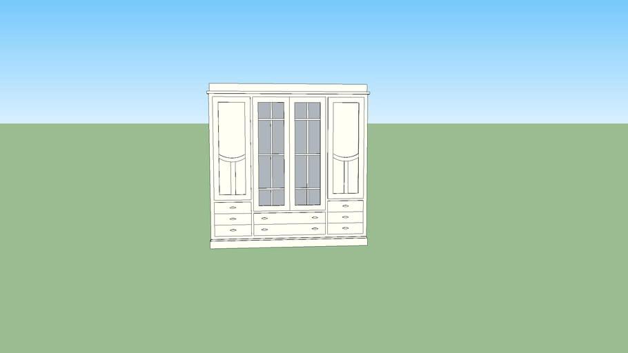 Grupo Seys Шкаф 4-х дверный стекл. двери