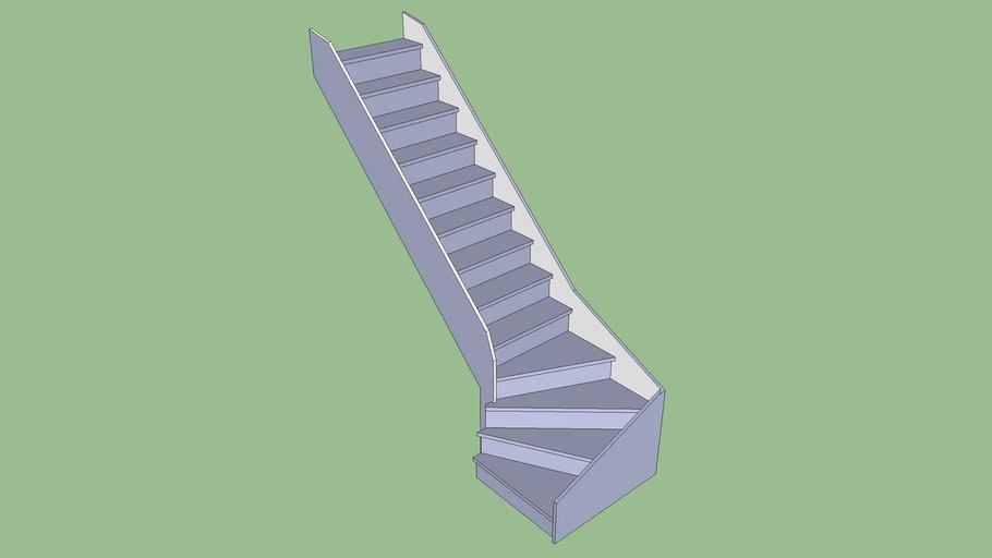 Escalier 1 quart tournant