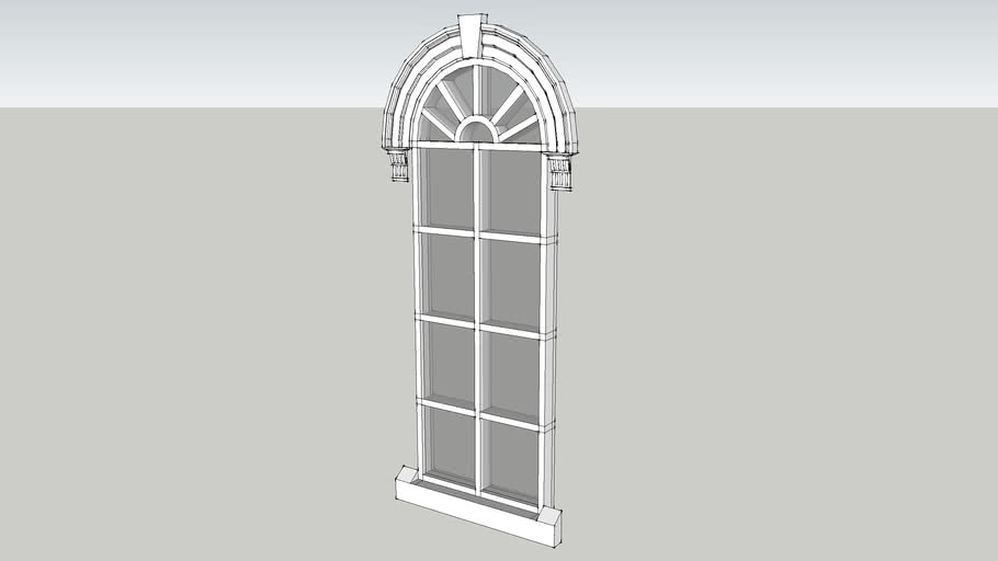 Victorian Arch-Top Window with Moulding