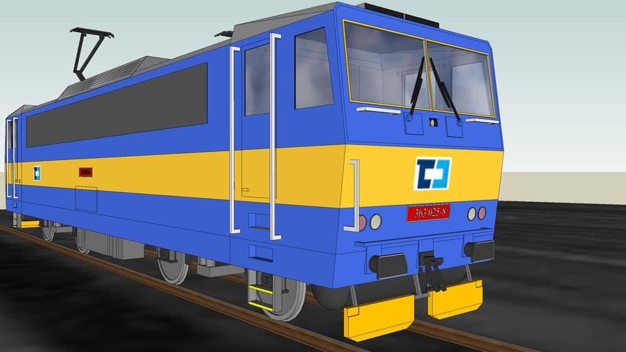 Lokomotiva 363 025-8 Eso v původním nátěru