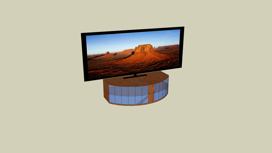 szafka i telewizor