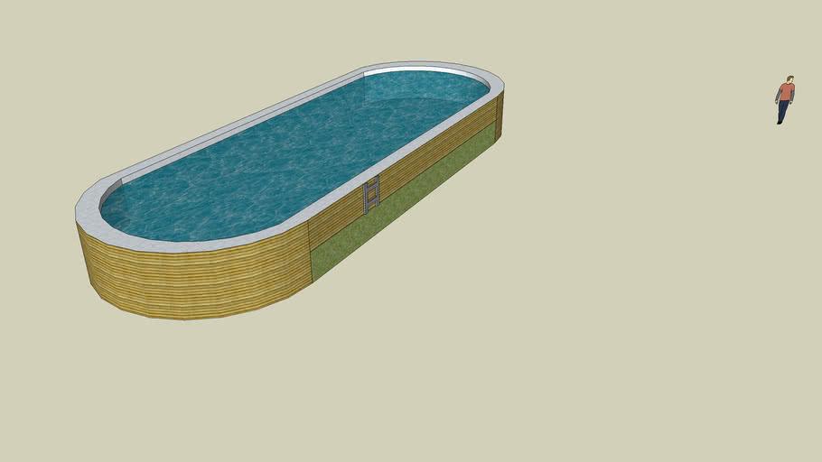 piscine semi-enterrer