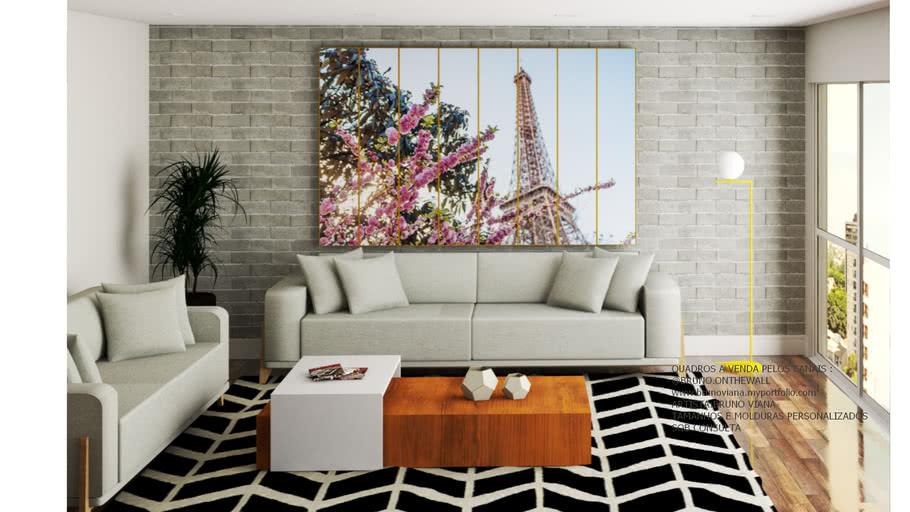 Quadro Torre Eiffel Polipidico