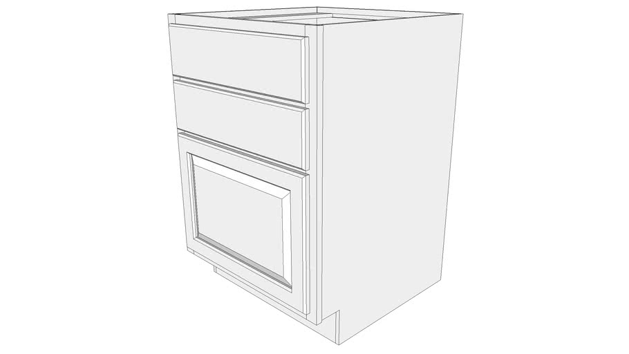 Base Cabinet B2d24 Two Drawers