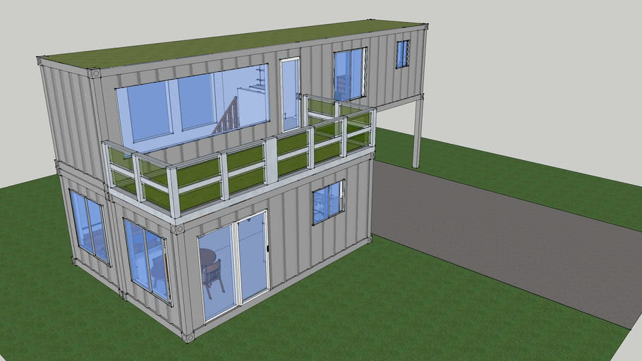 Small Shipping Container House