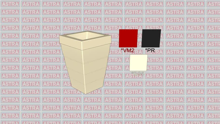 Lixeira de Fibra de Vidro Quadrada 50L (LFV3F BG5 VM2 PR)