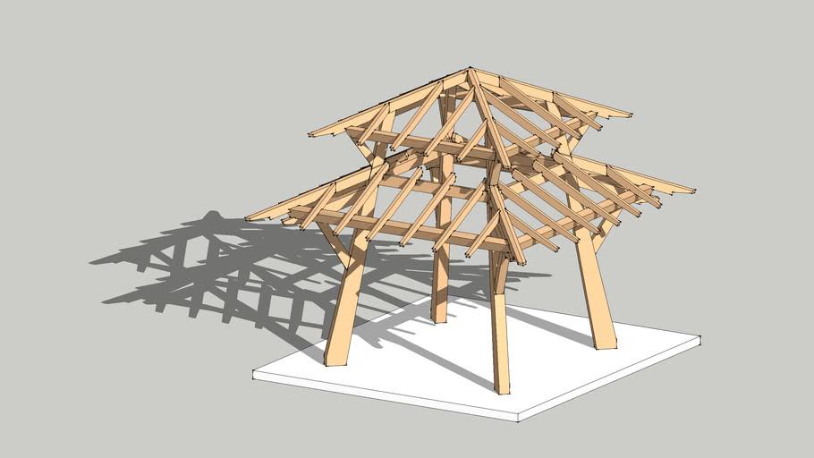 Timber Framed Garden Pagoda