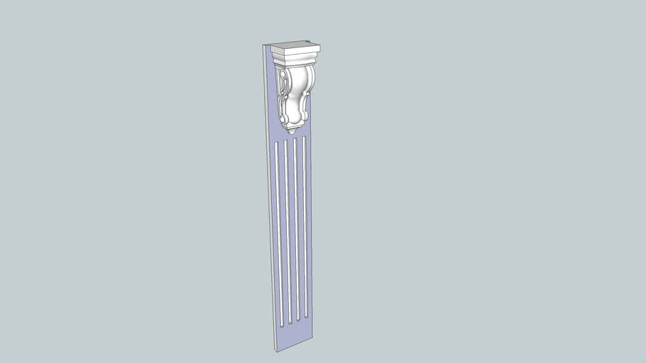 Fluted Column with Corbel