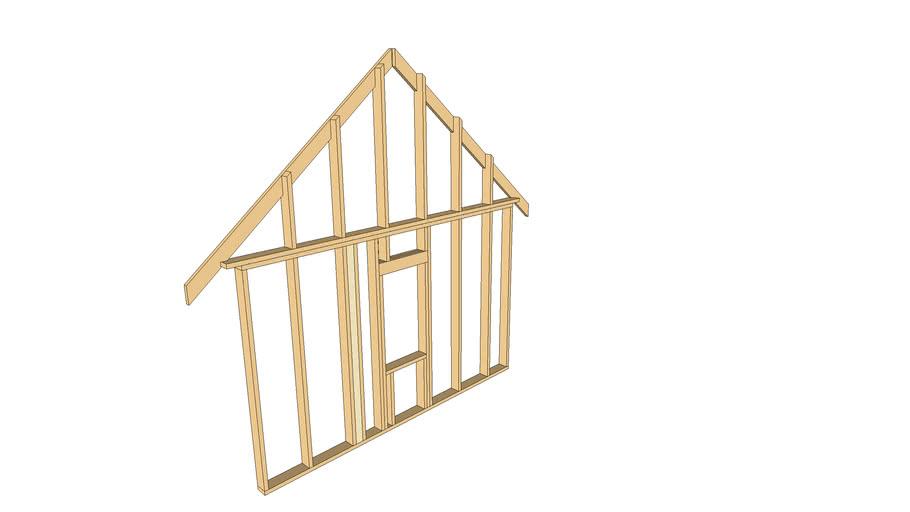 Small framing house