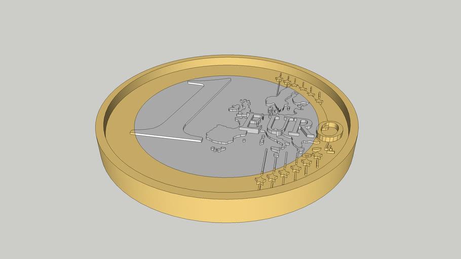 Coin 1 euro 1:1