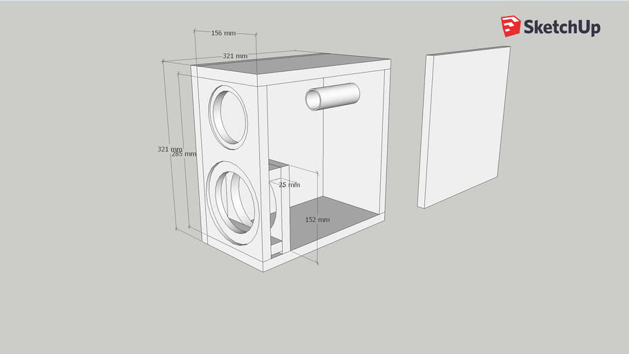 Compact Two Way Vented Isobaric Speaker Cabinet 3d Warehouse