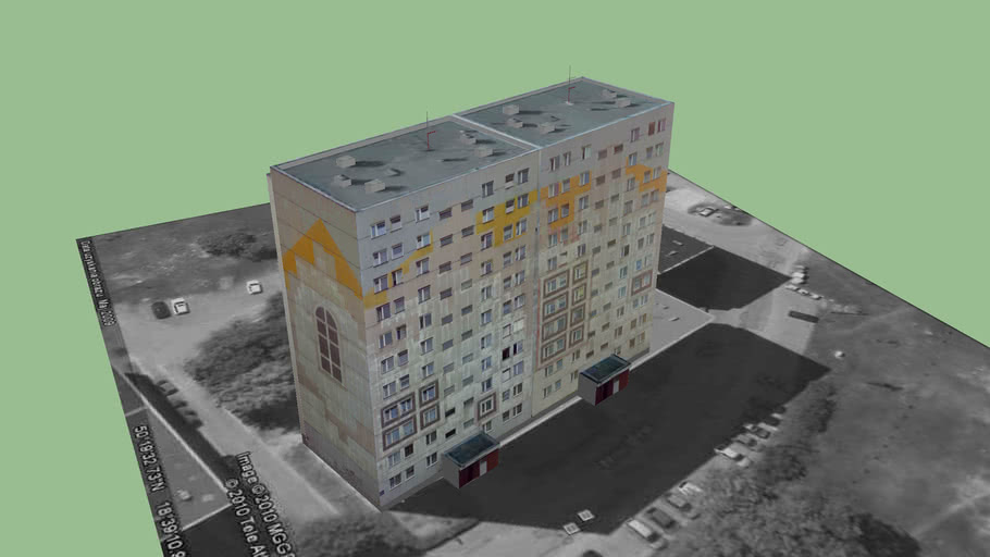 Blok Mieszkalny - Block of flats Syriusza 16-18 Gliwice Kopernik