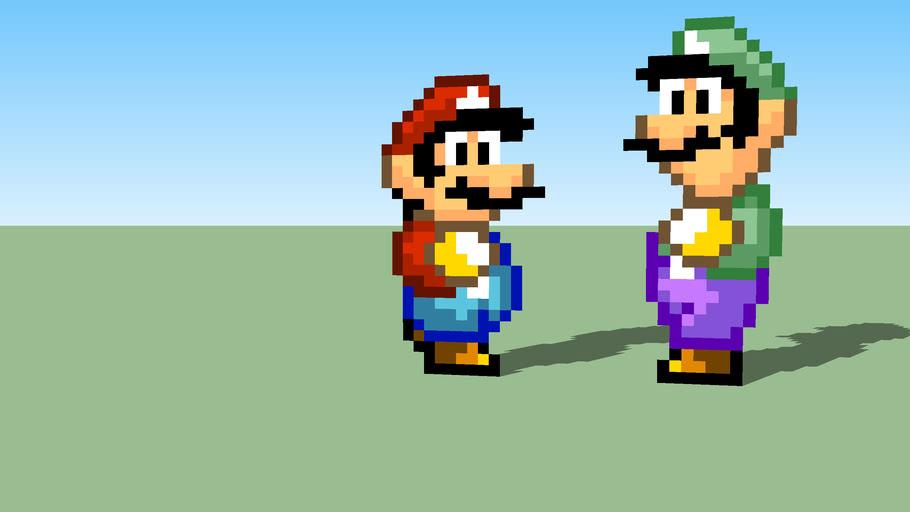 Super Mario Bros 2 Mario And Luigi Sprites 3d Warehouse