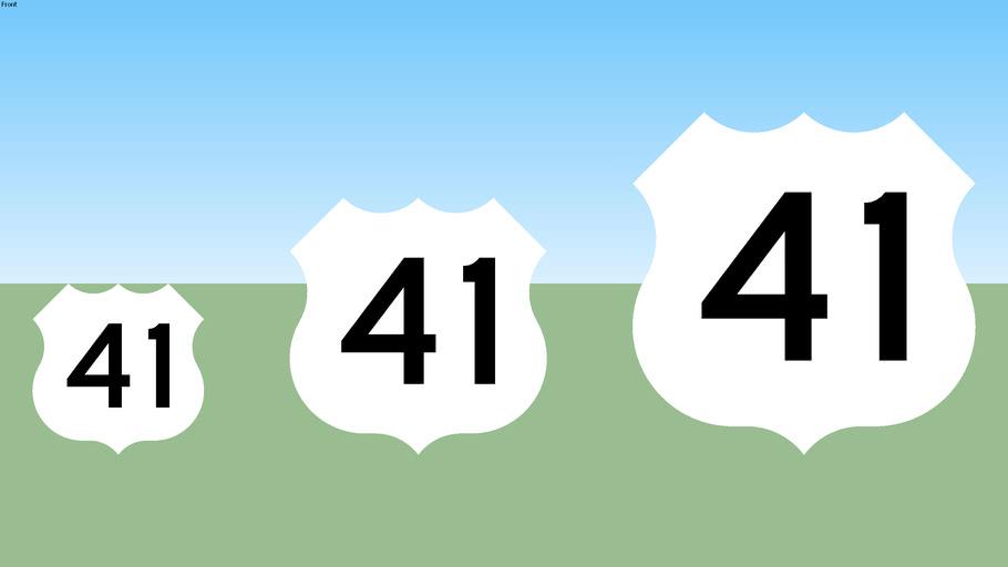 U.S. 41 Sign