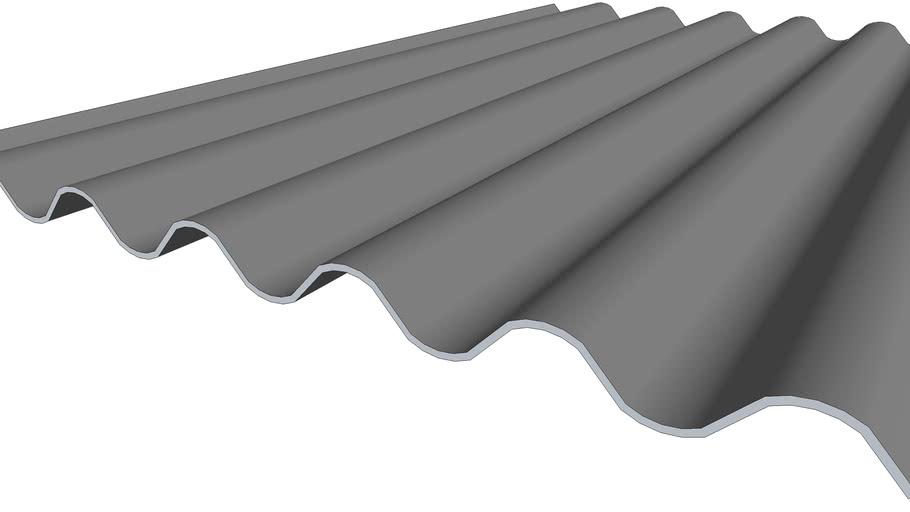 Plaque ondulée fibre-ciment 6 ondes - 1,75M