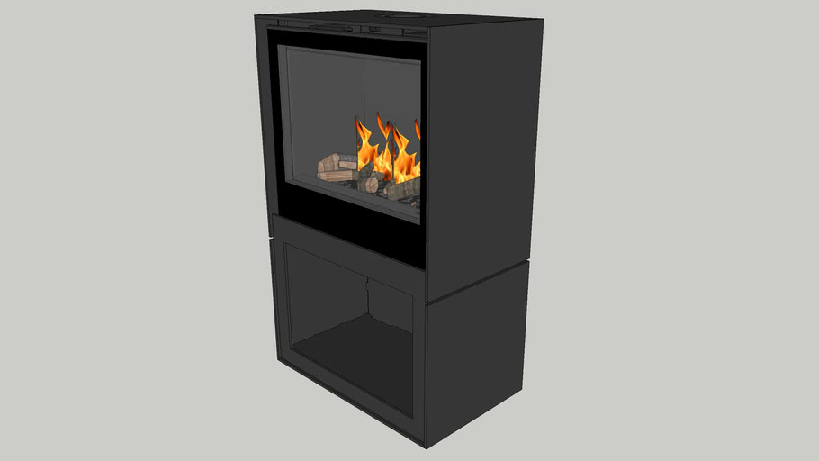 Bellfires Box gas 65 with log store