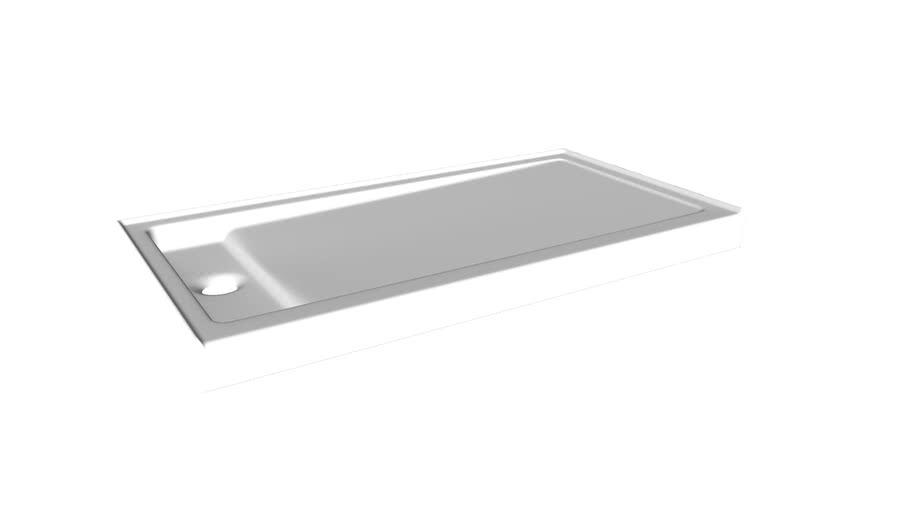 "K-9165 Bellwether(R) 60"" x 32"" single-threshold shower base with left offset drain"