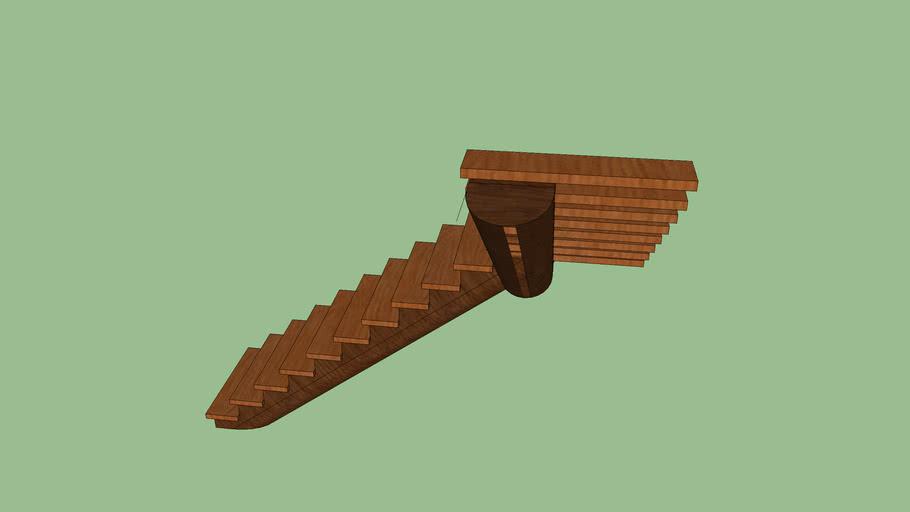 staircase, open riser log