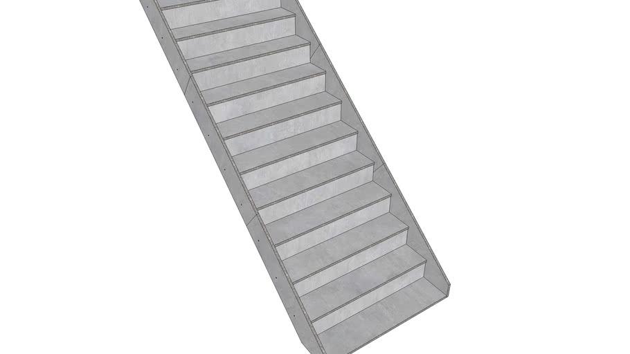 Schodiste z CETRIS desek 3 x 2 x 1,2 m, 11 schodu