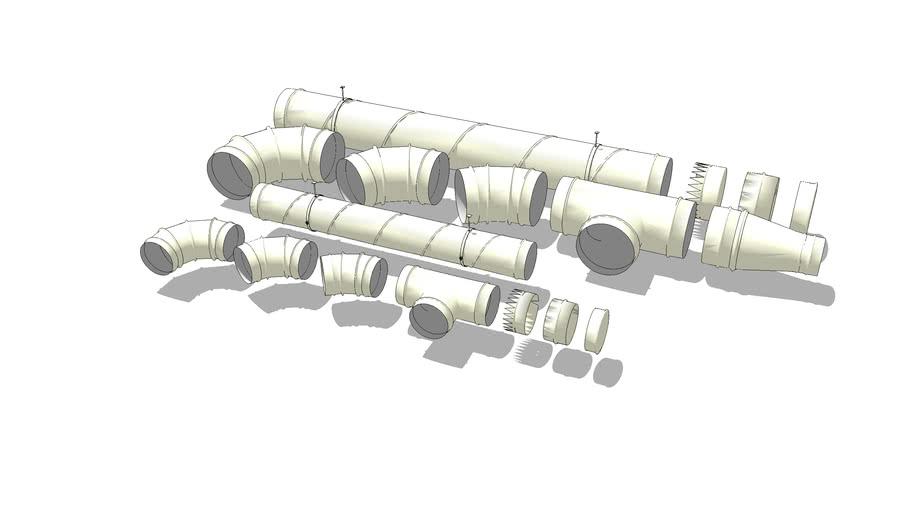 Ventilation pipes set