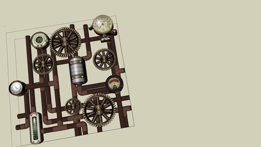 steampunk wall detail