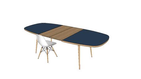 Table repas - Table à manger sur-mesure en chêne 180x110 cm + 2 rallonges 40cm / Dinner Table
