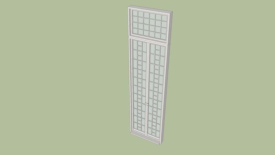 high glass pane door