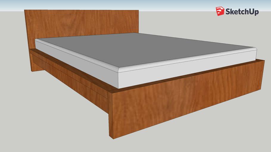 Ikea Malm Queen Bed Frame 3d Warehouse