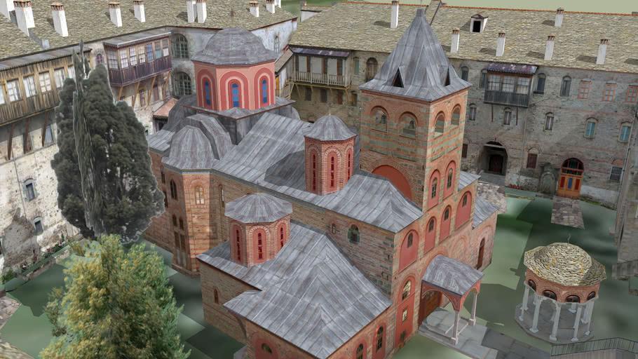 Μονή Φιλοθέου, Άγιον Όρος - Philotheou monastery, Mt. Athos