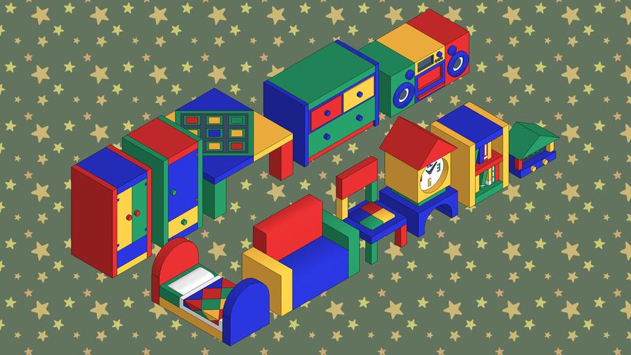 Kiddie Furniture from Animal Crossing