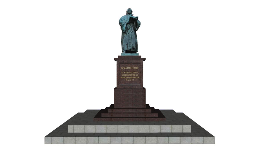 Luther Denkmal am Anger