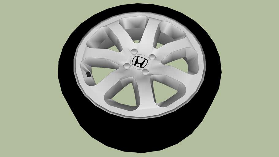 Honda 7-Spoke Alloy Wheel
